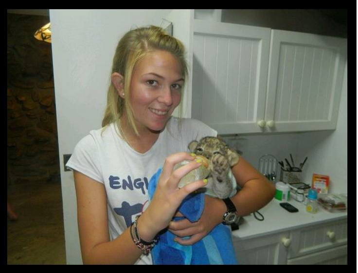 Tina (Asjas) with a cub. — in Jansenville, Eastern Cape, South Africa.  http://www.facebook.com/DigitalAgeJournalist