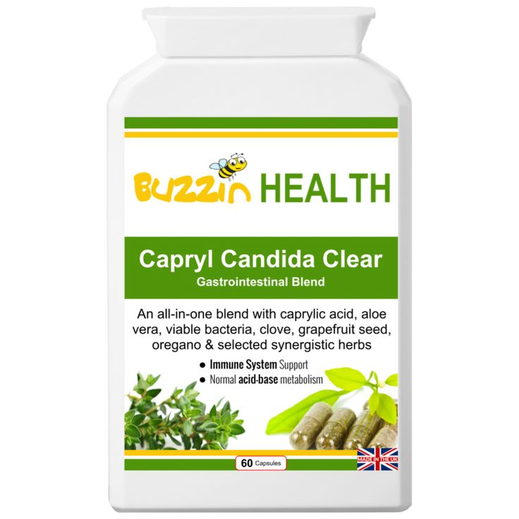 Capryl Candida Clear  60 Capsules     A Gastro-intestinal complex with 16 food based ingredients including zinc, caprylic acid, herbals and a pro-biotic bacterial combination formula.  Capryl Candida Clear is an all-in-one yeast balance, digestive health, cleanse and detox supplement co