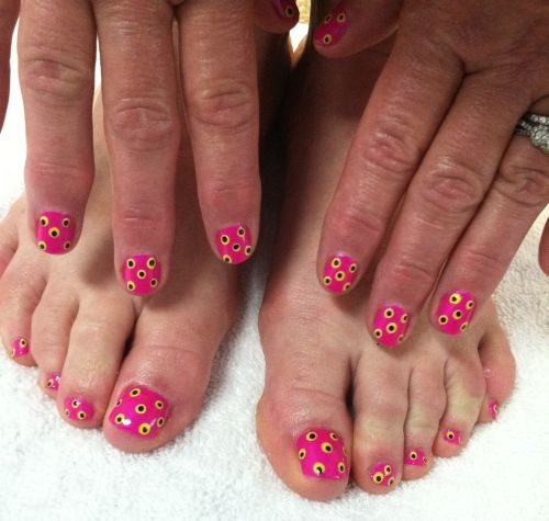 Toe Nail Art Polka Dots : Best images about nail art on