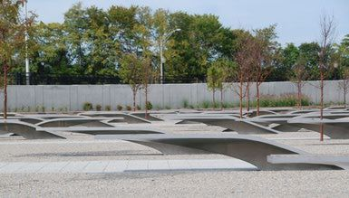 Pentagon Memorial: Pentagon Memorial   The memorial honors the 184 lives lost in the Pentagon and on American Airlines Flight 77 during the terrorist attacks on September 11, 2001.