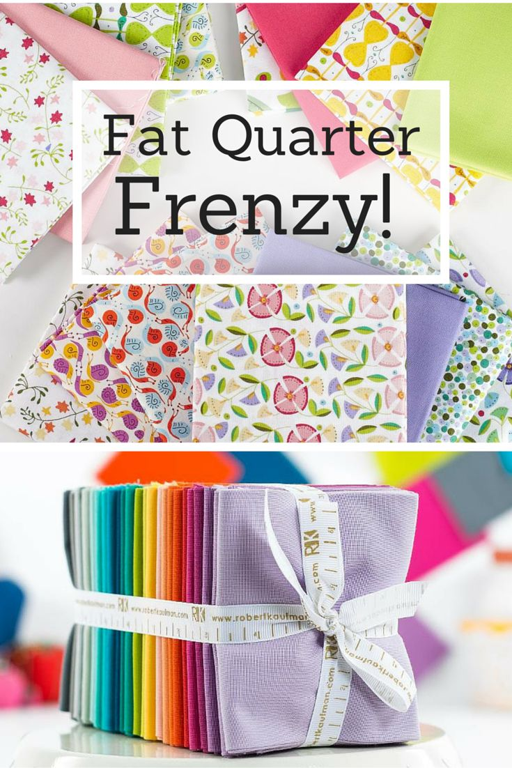 It's a Fat Quarter Frenzy! Craftsy is offering quilting fabric -- including beautiful fat quarters -- on sale for a limited time. Stock up on the best brands, including Moda, RJR fabrics and more! Plus, enjoy fabric shipped straight to your door. Get started on Craftsy today!