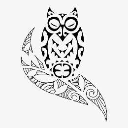 Maori style owl #samoan #tattoo