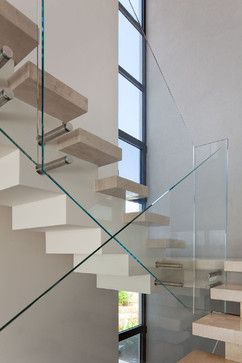 Glass Stair Railing Design, Pictures, Remodel, Decor And Ideas    @Azulandcompany