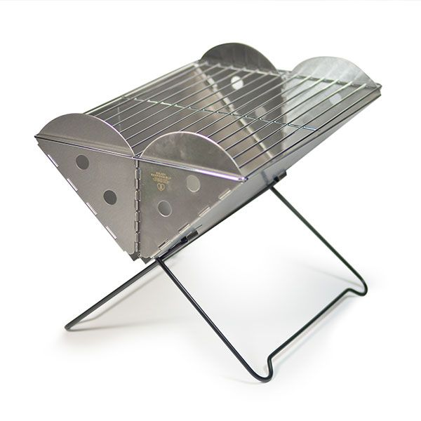 Flatpack Portable Grill & FirePit™ is ideal for easy cooking and low-impact camping. It's also lightweight, packable and safely contains a fire anywhere.