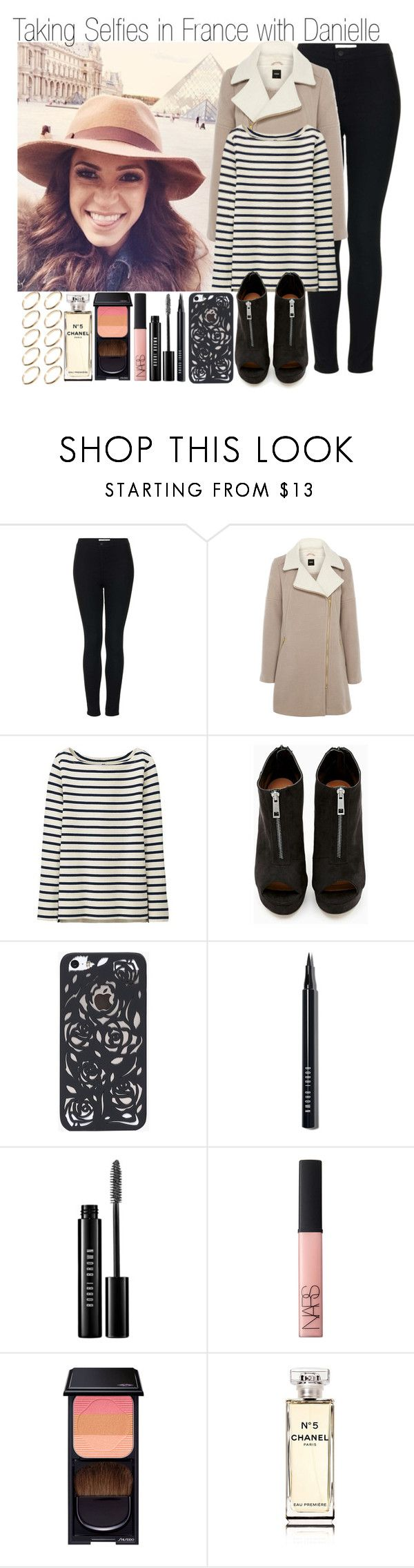 """Taking Selfies in France with Danielle"" by elise-22 ❤ liked on Polyvore featuring Topshop, Oasis, Uniqlo, Shoe Cult, Bobbi Brown Cosmetics, NARS Cosmetics, Shiseido, Chanel, ASOS and daniellepeazer"