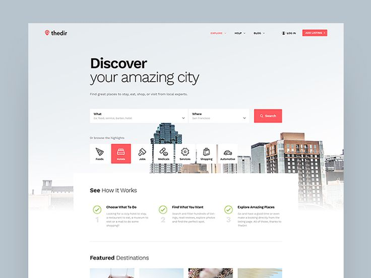 Thedir - Directory & Listing Website Concept by Logan Cee