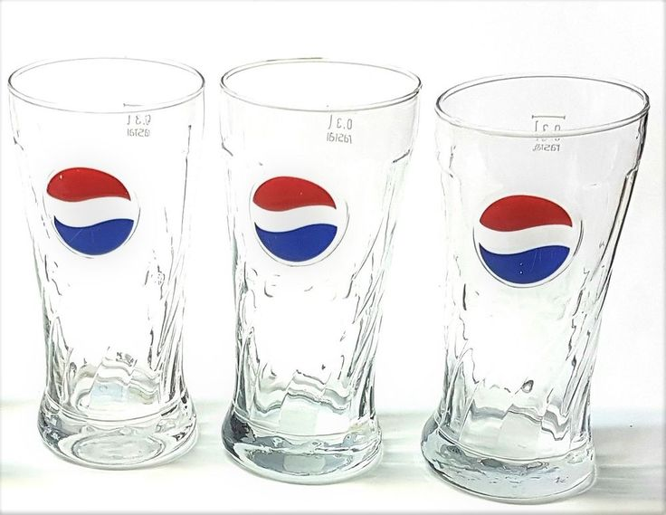Lot of 3-Rastal 0.3 L Pepsi Red-and-Blue-Swirl Logo Tumble Embossed Glasses  | eBay