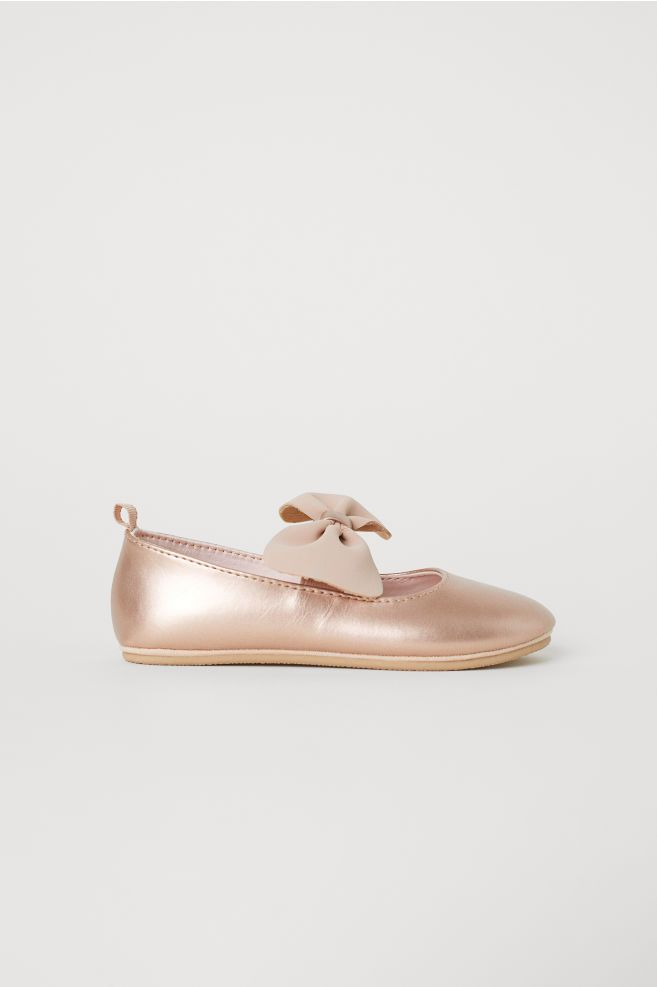 919d2da809a3 Ballet Flats with Bow - Rose gold-colored - Kids