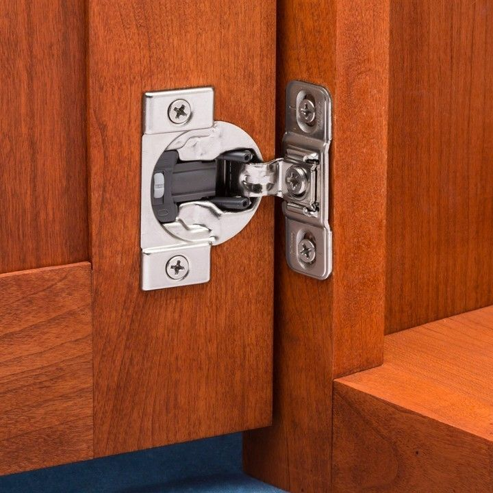 Blum Hinges On A Cabinet Door Can Be Done By You Blum Provides Three Different Types Of Hidden Cabinet Hinges Installation Of The H Pekerjaan Kayu Mebel Kayu