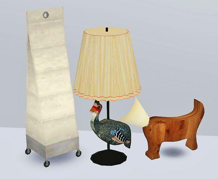 Three Sims 2 To Sims 3 Lamp Conversions Ea Ikea Marek Floor Lamp Steffor Peacock Table Lamp
