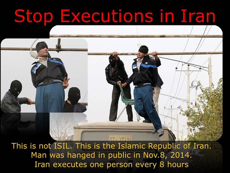 Stop executions in Iran. Under Rouhani, more than 1000 have been executed. Iran kills one person every 8 hours. This man was 30 years old and was executed in public in Mashad on November 8, 2014.