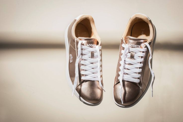 LACOSTE metallic trainers, your favourite companions!