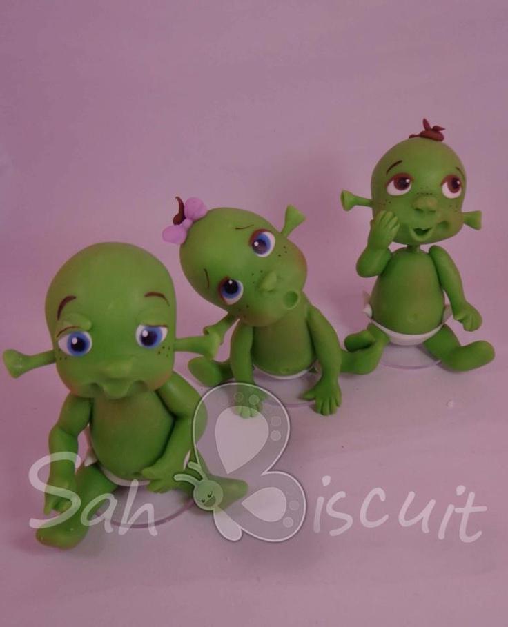 Sah Biscuit Shrek Baby fondant or polymer
