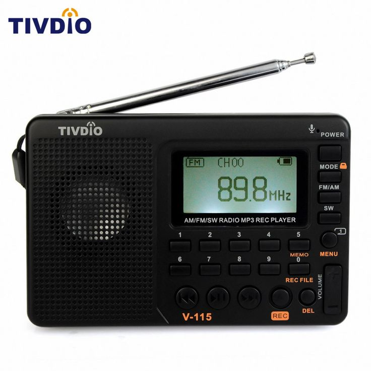 Discount! US $16.55  TIVDIO V-115 Radio FM/AM/SW World Band Receiver MP3 Player REC Recorder With Sleep Timer Black FM Radio Recorder F9205A  Provide product: Xiaomi