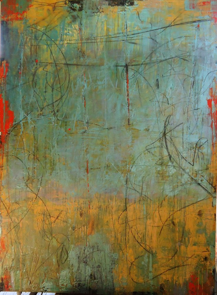 """SOLD - """"Blue Moon"""" by Debra Corbett, 36 x 48, plaster paint & glaze on panel available in Scottsdale at The Marshall 