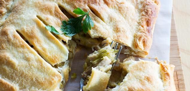 A homemade pie is a thing of beauty, and this chicken and leek pie is simply amazing. If you're short on time, you can use store-bought pastry or a ready-roasted chicken, but I never cheat with the white wine sauce – this is what makes the filling so creamy!