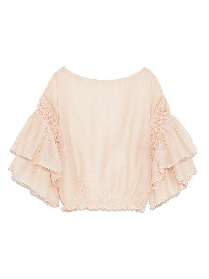 フリルスリーブトップス(プルオーバー)|Lily Brown(リリーブラウン)|ファッション通販|ウサギオンライン公式通販サイト