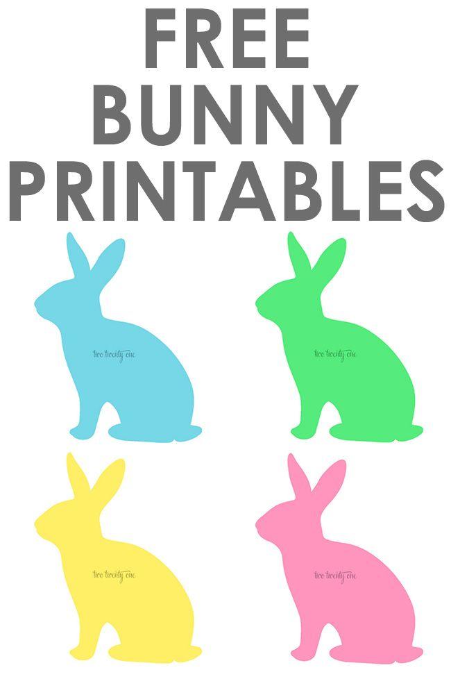 Free Bunny Printables!