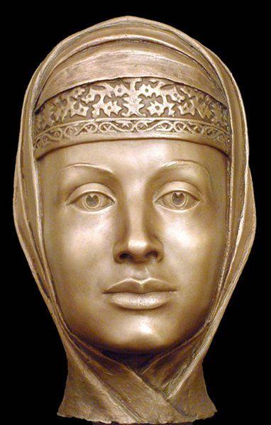 Tsarina Marfa Sobakina, 3rd wife of Ivan the Terrible. Forensic facial reconstruction by S.A.Nikitin.