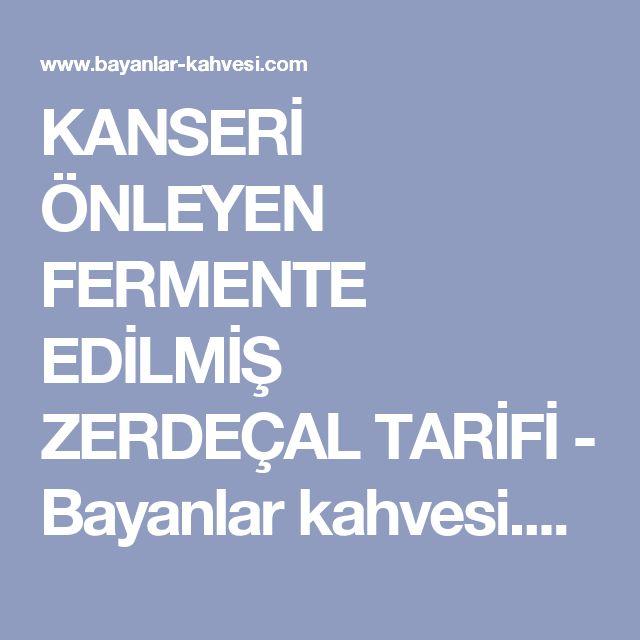 KANSERİ ÖNLEYEN FERMENTE EDİLMİŞ ZERDEÇAL TARİFİ - Bayanlar kahvesi.com
