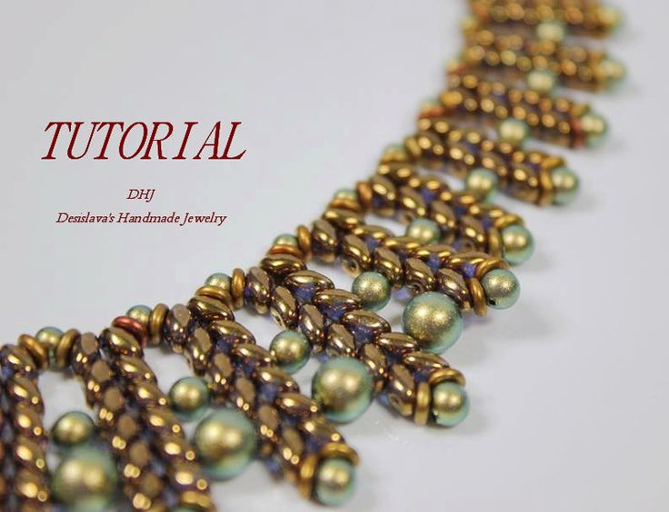 Detailed PDF tutorial for necklace Featherls with by DESIBEADS superduos o beads & pearls