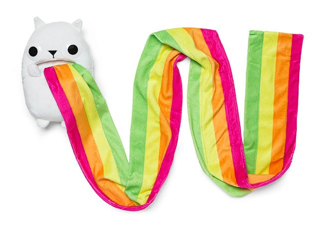 Exploding Kittens Rainbow Ralphing Cat Scarf | Mom I Want