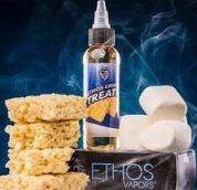 Ethos Crispy Treats is a mystery treat for all the cereal lovers. A sticky sweet cereal bar entwined with fluffy marshmallows blended perfectly for an all day vape.