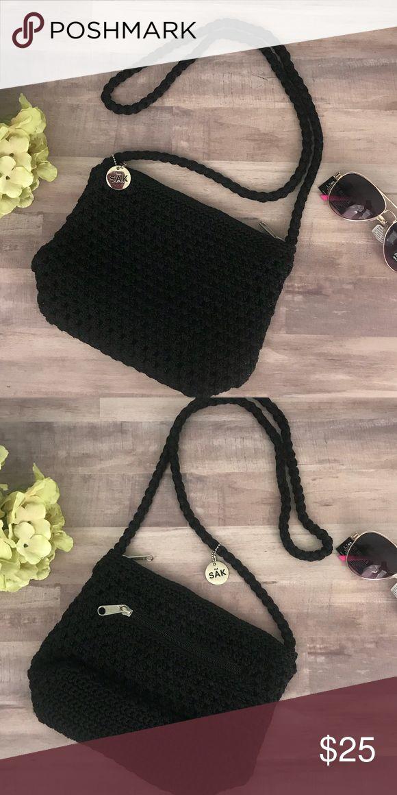 The Sak   Black Knitted Crossbody Versatile black knitted crossbody by The Sak.  EUC.  No rips, stains, tears or snags.  1110201700247 The Sak Bags Crossbody Bags