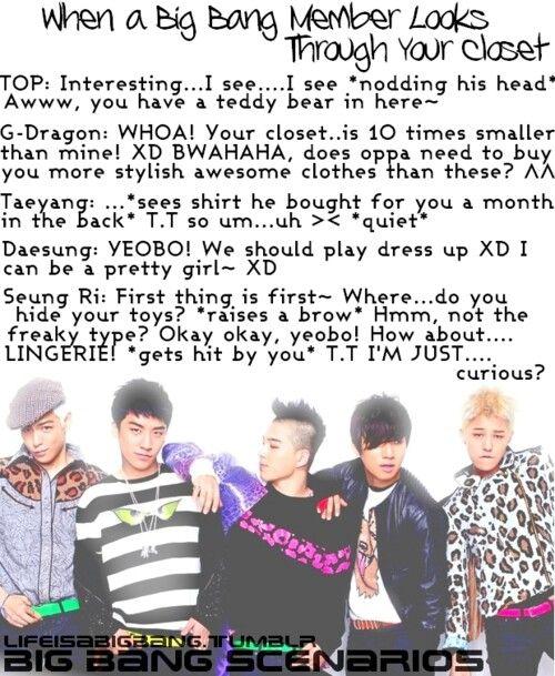Big Bang scenarios | kpop scenarios