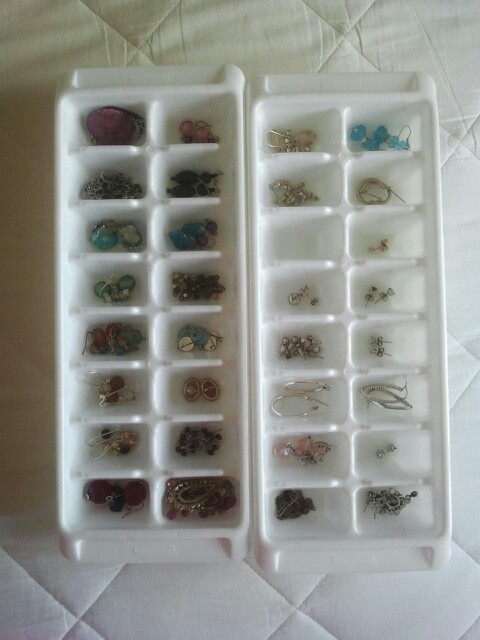 Ice tray to organize earings