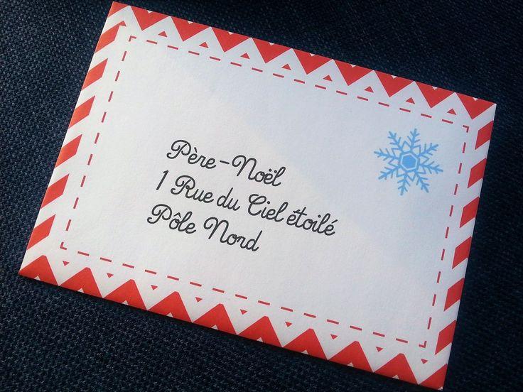 Lettre au père-noël et enveloppe à imprimer gartuit