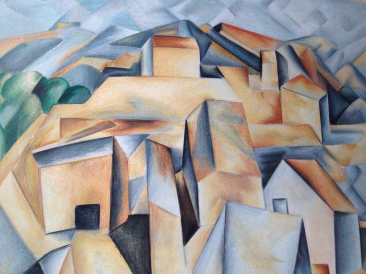 """Particolare """" case in collina a Horta de Hebro """" Picasso 1909 - Anna Stile Jewels 2003"""