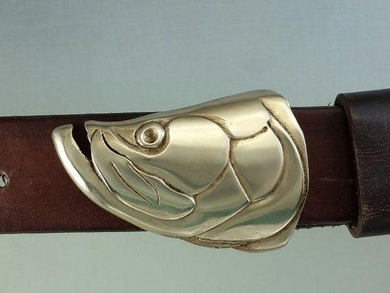 Tarpon Fish Belt Buckle in Solid Bronze with by JewelryArtStudio