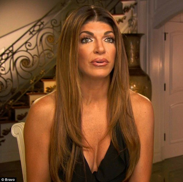 Tough time: Teresa Giudice and her daughter had a tough time dealing with the absence of Joe on Sunday's episode of The Real Housewives Of New Jersey