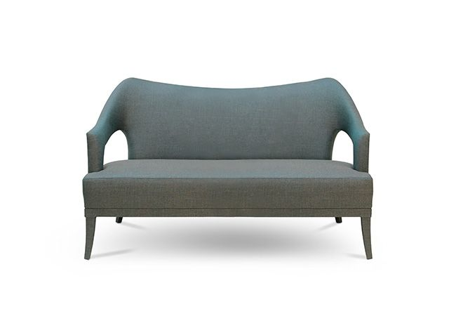 Nº20 2 SEAT SOFA - Contemporary Mid-Century | Contract Furniture | Hospitality Furniture #Upholsteredsofas #Velvetsofa #modernsofas | Find more inspiration at: https://www.brabbu.com/en/upholstery/