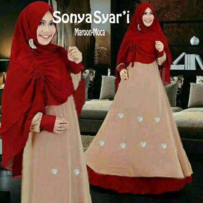 5 Motif Warna Baju Gamis Polos Sonya