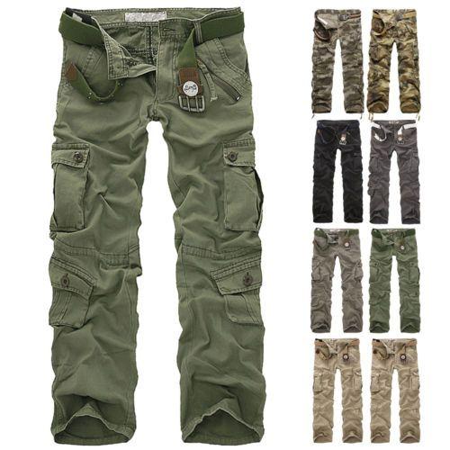 Combate-de-algodao-masculinas-carga-calcas-camufladas-calcas-Camo-camuflagem-Militar