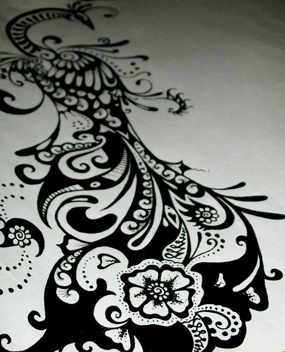 56 best images about peacock tattoo ideas on pinterest for Peacock tattoo black and white