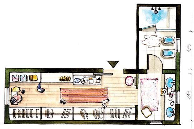 Baño Vestidor Arquitectura: en Pinterest