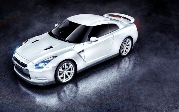 White Nissan GTR  HD Wallpapers. For more cool wallpapers, visit: www.Hdwallpapersbank.com You can download your favorite HD wallpapers here .. It's free