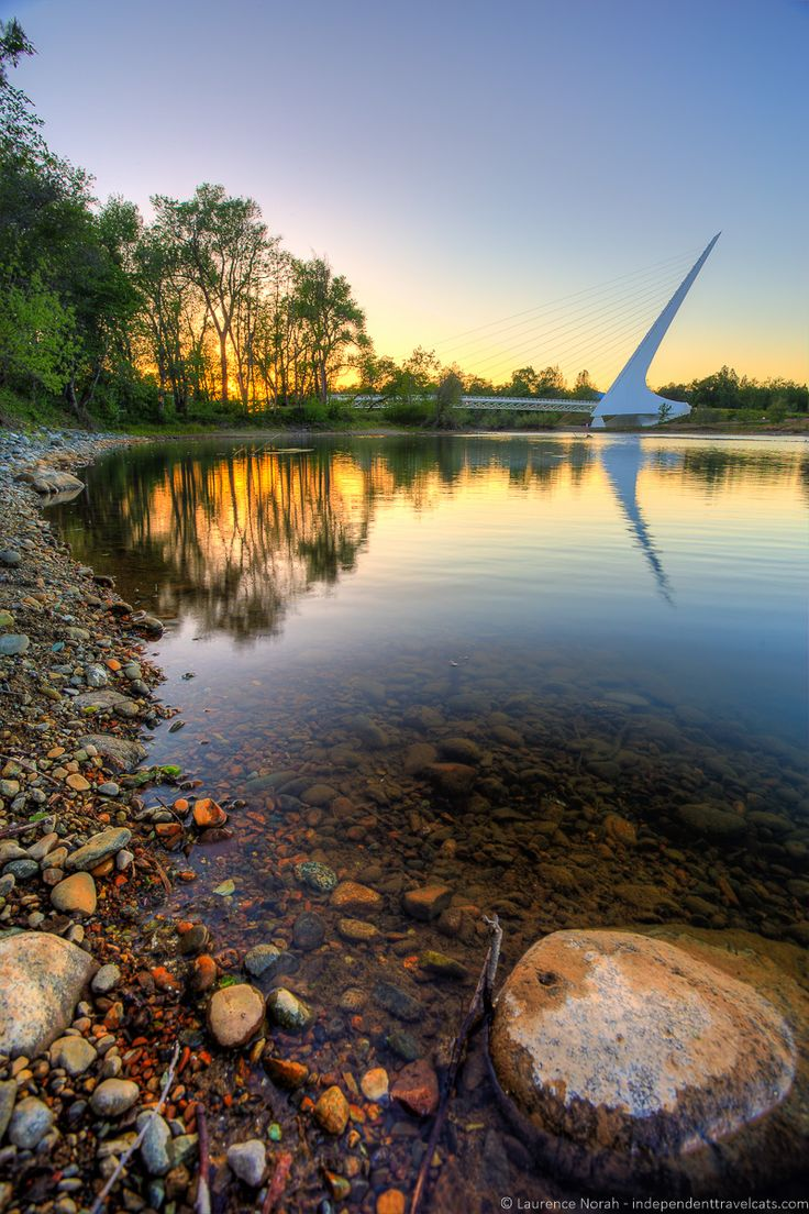 Sundial Bridge in Redding, California                                                                                                                                                                                 More