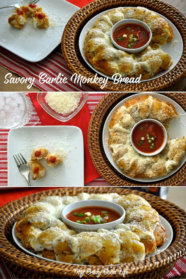 This Garlic Monkey Bread recipe is a delicious side! I partnered with @Pillsbury to bring you our favorite savory garlic buttery monkey bread recipe. #ItsBakingSeason