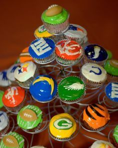 Image result for nfl cupcakes #ad