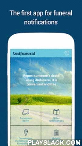 Unifuneral Android App - playslack.com , Unifuneral is the first Brazilian app for funeral announcements.With this app you can:- Share funeral announcements with contacts in your Contacts List using social networks, SMS and whatsapp.- Post and share invitations to masses and memorial services using simple and preformatted messages.- View a checklist of steps to be taken when a loved one dies including the planning of ceremonies.- Access a list of cemeteries, crematoriums and funeral homes…