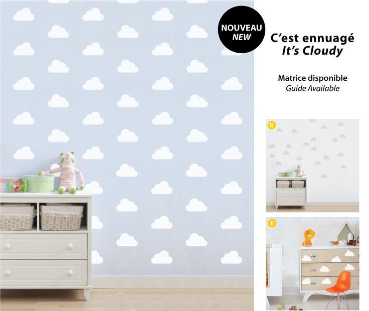 It's Cloudy | C'est ennuagé  #kids #enfants #deco #walldecals #adhésifs