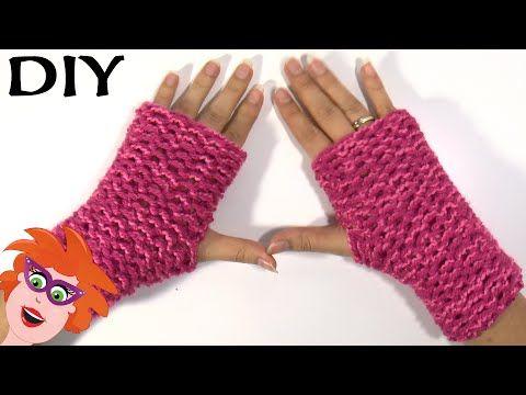 Zelf handschoenen breien op Cra-Z-Knitz breiraam - YouTube