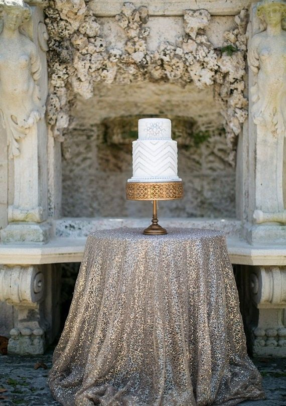 Beautiful 100 Round Silver Sequin Tablecloths (very Cheap