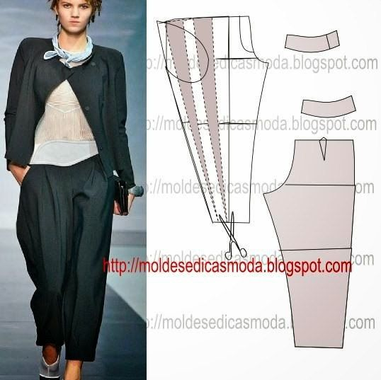 Como hacer pantalones de diferentes modelos para dama
