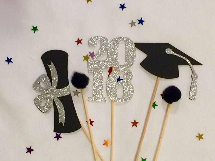 Graduación centro de mesa palillos 2016 fiesta de graduación