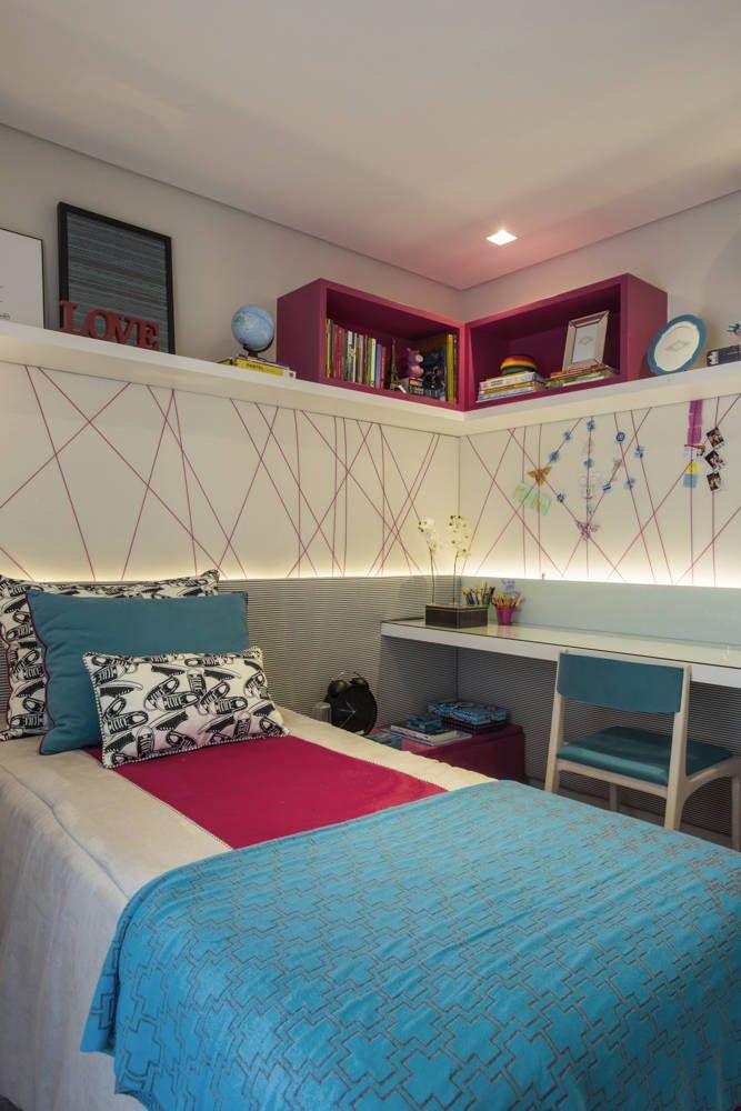 Navegue por fotos de Quartos Moderno Turquesa: MOEMA | RESIDENCIAIS . Veja fotos com as melhores ideias e inspirações para criar uma casa perfeita.